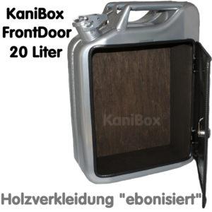 20er FrontDoor mit Holzverkleidung ebonisiert