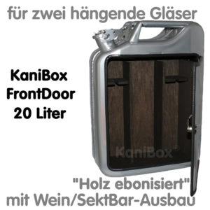 20er FrontDoor WeinBar-Ausbau Holz ebonisiert