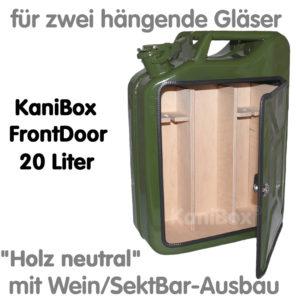 20er FrontDoor WeinBar-Ausbau Holz neutral