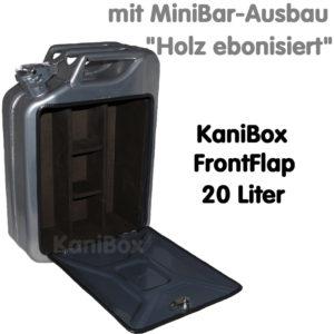 20er FrontFlap MiniBar-Ausbau Holz ebonisiert