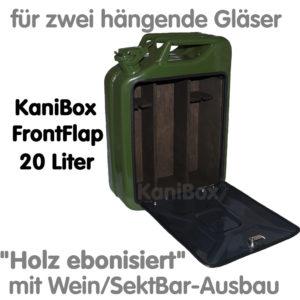 20er FrontFlap WeinBar-Ausbau Holz ebonisiert