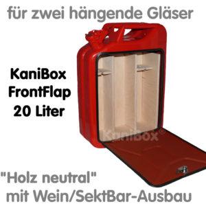 20er FrontFlap WeinBar-Ausbau Holz neutral