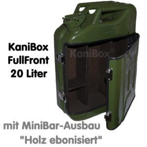 20er FullFront MiniBar-Ausbau Holz ebonisiert