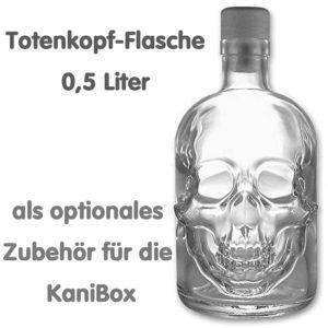 Totenkopf-Flasche für die KaniBox Kanister-Bar