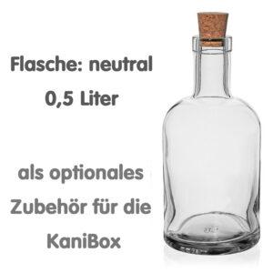 neutrale Flasche für den KaniBox Bar-Kanister