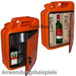 KanisterBar in orange mit Ausbauvarianten