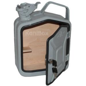 Retro Kanister MiniBar in Grau