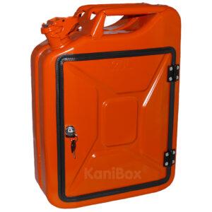 umgebauter Kanister in der Farbe Orange