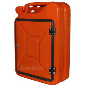 orangefarbener Kanister als DIY Geschenkidee