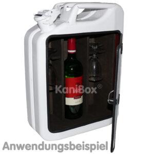 BarKanister für Wein und Weingläser