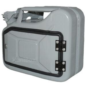 umgebauter Retro Kanister in Grau