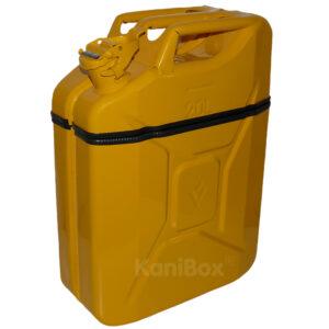 gelbe KaniBox Mulleimer Benzinkanister in Gelb