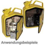 individuelle gelbe Vintage KanisterBar